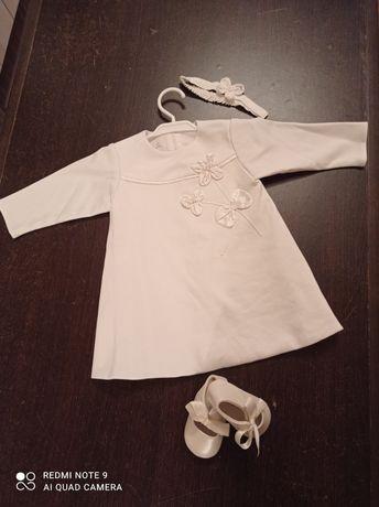Sukienka  balumi 80 + buciki mayoral 17