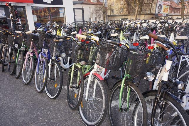 84,9 rower miejski Łabędź ALU obręcze Kosz Bagażnik Oświetlenie Raty