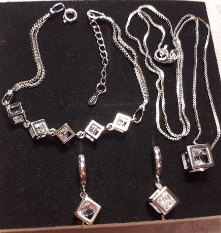 Гарнитур серебро 925