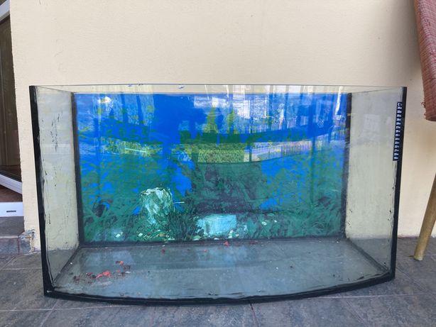 Akwarium panoramiczne 80x45x27 cm