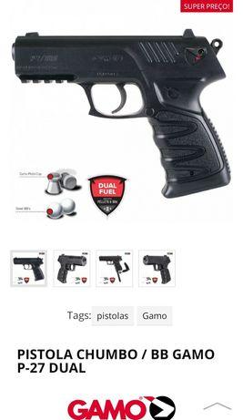 Pistola calibre 4,5mm