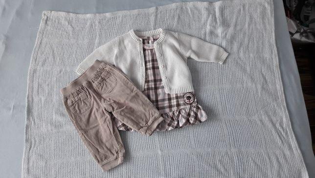 R 68 sukienka H&M spodnie sweter
