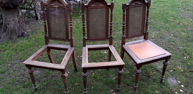 Krzesła stare antyk krzesło rafia