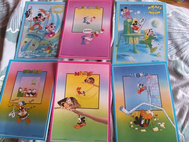 Cadernos Mickey coleção de 1987