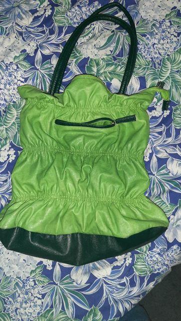 torebka duża , zielony groszek
