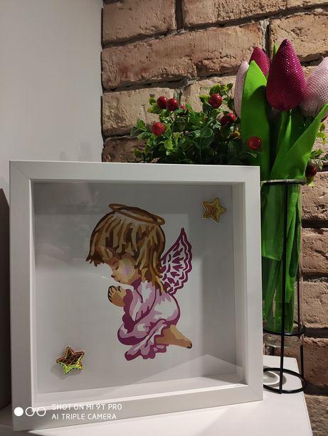 Anioł Stróż ramka _ chrzest, roczek lub na inną okazję