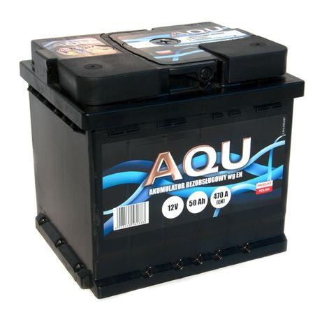 Akumulator 12V 50Ah 470A AQU Autopart Dowóz Montaż Płatność kartą