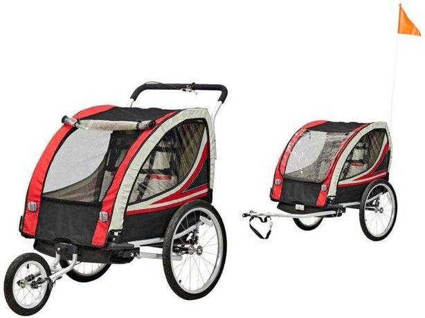Przyczepka rowerowa do wożenia dzieci • Wózek dziecięcy 2w1 • Jogging