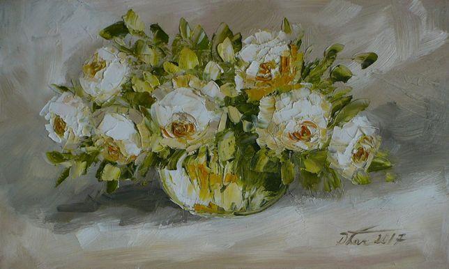 Bukiet róż - obraz olejny o wym: 55c33cm