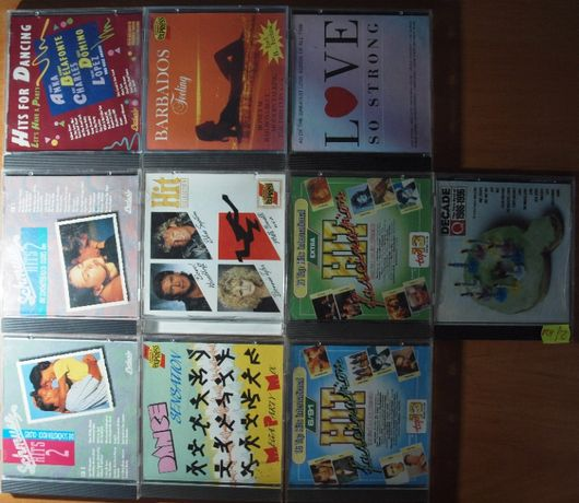 Zestaw płyt CD, płyty z muzyką, kolekcja CD. POP, DISCO, wiązanki.