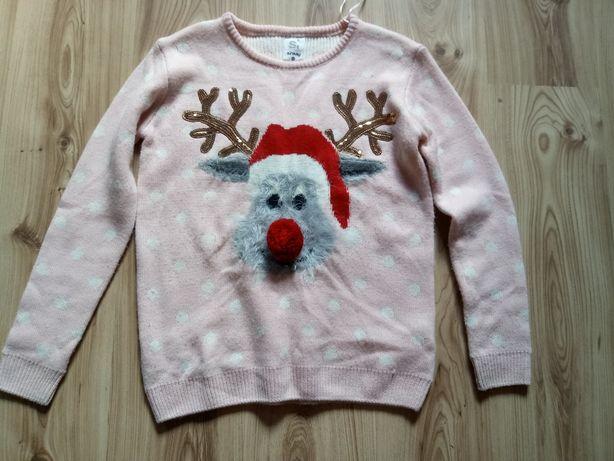 Śliczny świąteczny sweterek roz.xs