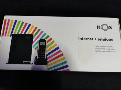 Kit Router + telefone sem fio NOS