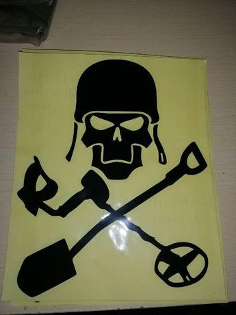 Наклейка для авто копателя