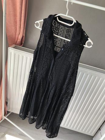 Piękna czarna koronkowa sukienka rozmiar M