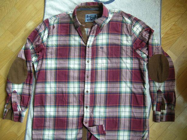 Męska koszula bawełniana XL/XXL łaty sztruks 100% cotton super j. nowa