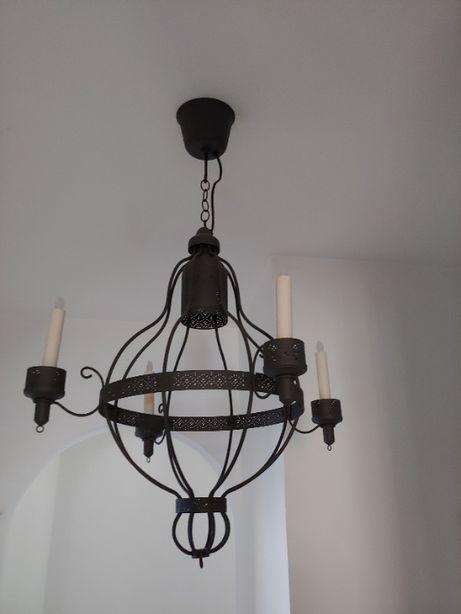 Żyrandol LAMPA IKEA grafit+ świeczki LED