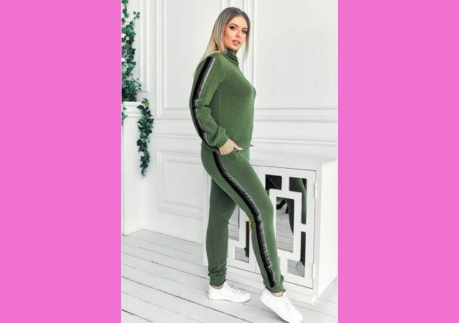 Ангоровый женский прогулочный костюм со штанами теплый новый