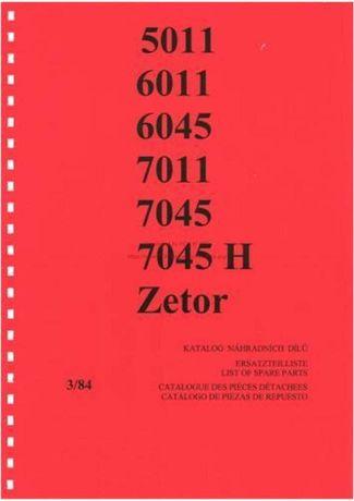 Katalog części Zetor 5011, 6011, 6045, 7011, 7045, 7045H,