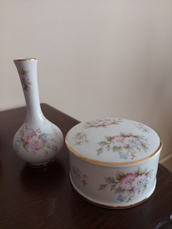 Szkatułka, wazon- Clematis- Porcelana- Anglia