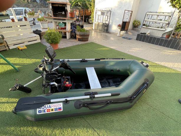 Barco completo com so da e motor eletrico ( pesca, carpfishing)