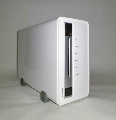 Serwer dysk NAS QNAP TS-212P + 2 dyski WD 500GB