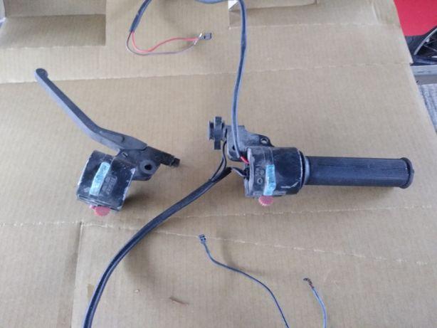 ETZ 250 osprzęt kierownicy manetka gazu