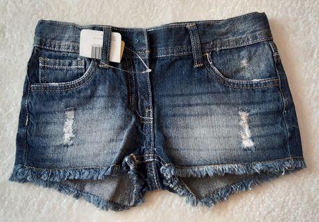 Krótkie  spodenki, szorty jeans,  rozmiar 128