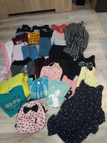 Zestaw ubrań dla dziewczynki r.146/152.
