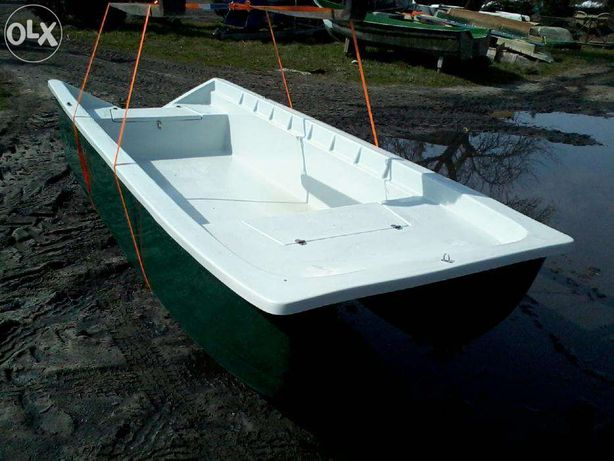 Łódź łódka wiosłowa wędkarska motorowa stabilna