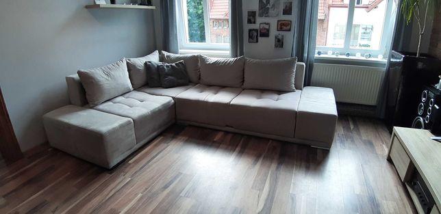 Duży komfortowy reprezentatywny rozkładany narożnik sofa kanapa Gawin
