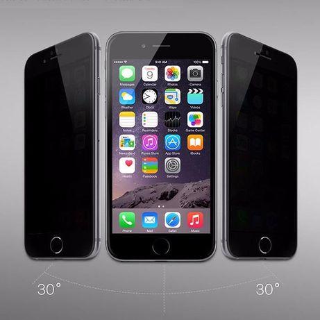 Антишпион Приватное Защитное стекло на iPhone 5/6/S/7/8/Plus/X/11/Max