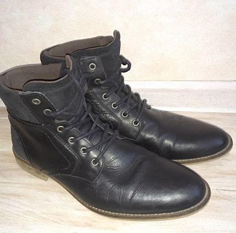 Демисезонные мужские кожаные ботинки 43 размер Pier One