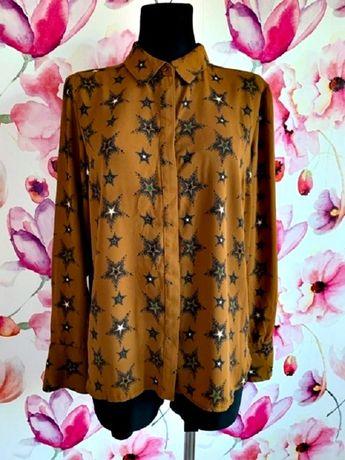 next koszula luzny fason modny wzór gwiazdy gwiazdki hit blog roz.40