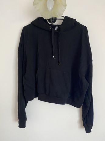 Czarna bluza z kapturem H&M