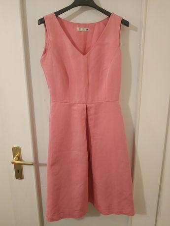 Różowa sukienka na wesele, chrzest, komunię lub inną okazję