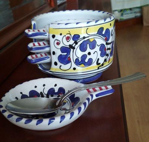 Apoio colher em cerâmica