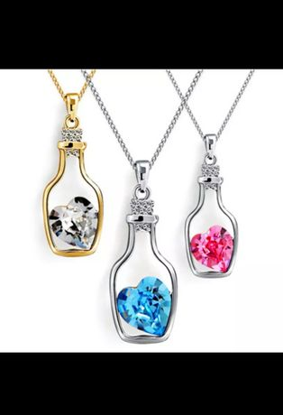 NOWA Biżuteria damska łańcuszek kolczyki