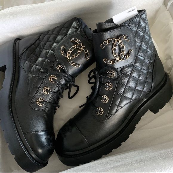 Хит 2020 Кожанные женские ботинки Шaнeль Chanel Киев - изображение 1