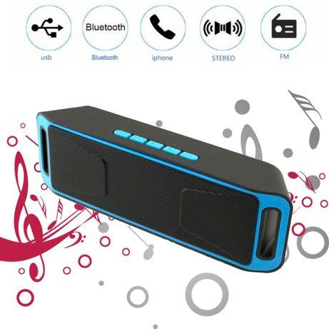 Портативная беспроводная Bluetooth (Блютуз) колонка FM радио стерео 2