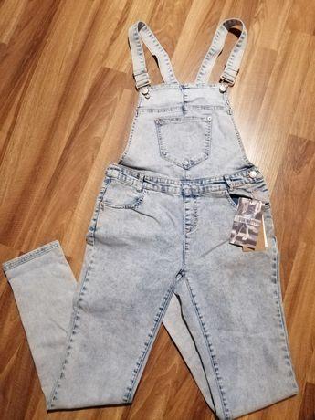 Ogrodniczki jeansowe 40