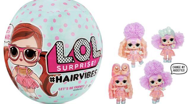 Кукла в шаре LOL Surprise Hairvibes ЛОЛ оригинал со сменными париками