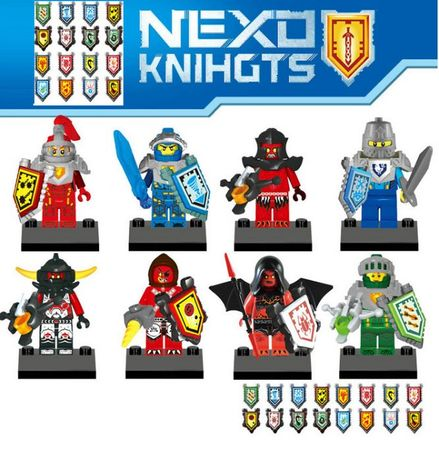 NOVOS Bonecos minifiguras Nexo Knights nº4 (compativel c/ Lego)