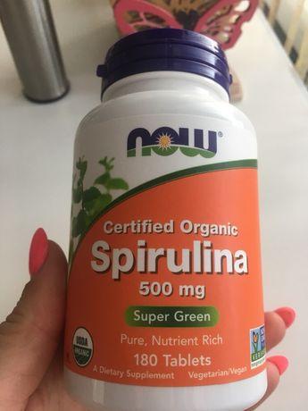 Спирулина органическая 500 мл, 180 таблеток
