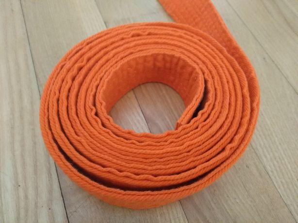 Pas pomarańczowy do karate jak nowy