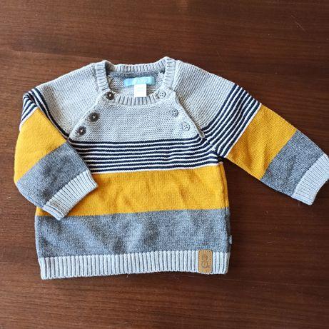 Sweterek 59cm/ 3m okaidi 62/68