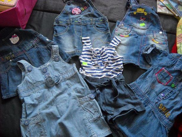 ZESTAW jeansowy 2-3 latka,Sukienka ogrodniczka jeans 92-98 HM NEXT