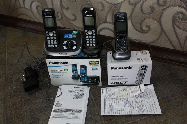 радиотелефон Panasonic KX-TG6522 UA плюс KX-TGA651 (три ТРУБКИ!!)