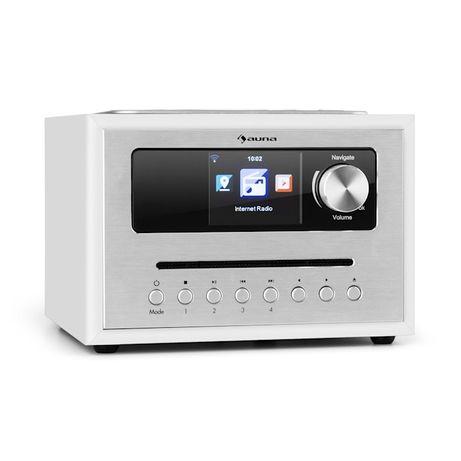 Nowe Radio Internetowe Mikro Wieża Bluetooth CD FM AUX USB Pilot Auna