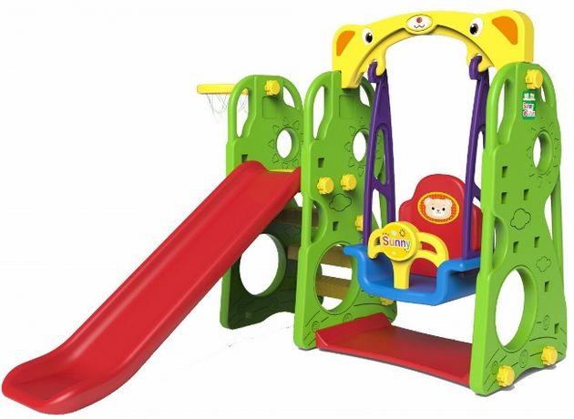 Plac zabaw dla dzieci Huśtawka zjeżdżalnia 3w1 Sunny