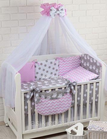 Комплект постельного белья Asik Совы для девочки